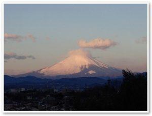 ふれあいの森から見る元旦の富士山